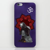 buddah iPhone & iPod Skins featuring Rest my Buddah by Color Society Studio