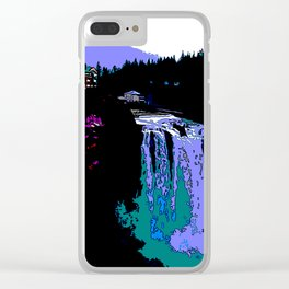 Jazzy Falls Clear iPhone Case