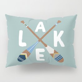 LAKE LIFE Painted Paddle Oars Pillow Sham