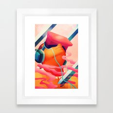 In the Clouds Framed Art Print
