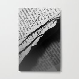 Torn Pages From a Book Metal Print