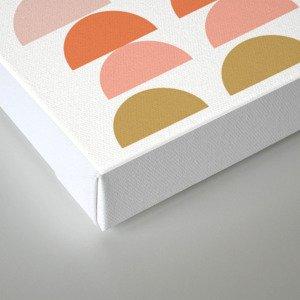 Geometric Half Circles Pattern in Earth Tones Canvas Print