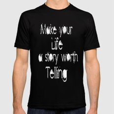 Life Story Mens Fitted Tee MEDIUM Black