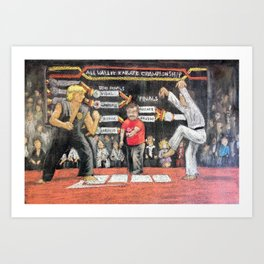 Sweep The Leg - Chalk piece Art Print