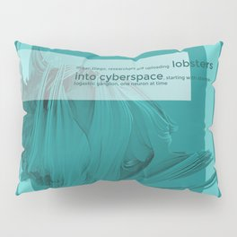 lobster in cyberspace Pillow Sham