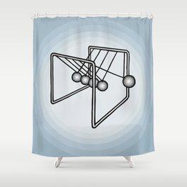 Newton's balls or Executive Ball Clicker Shower Curtain