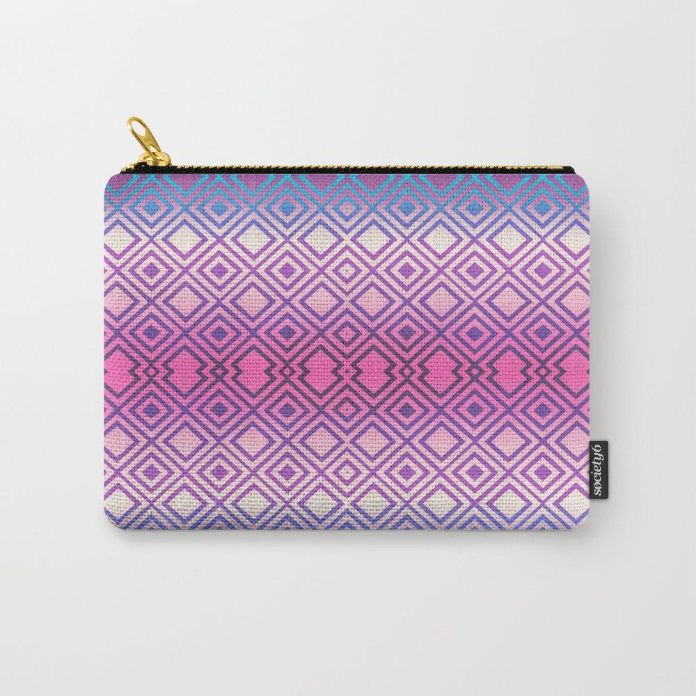 Pink Geometry Carry-all Pouch by Latex CAP8057143