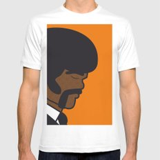 Pop Icon - Jules MEDIUM White Mens Fitted Tee