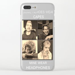 Markiplier and Jacksepticeye Heroes Clear iPhone Case