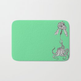 Octopus with an orchid Bath Mat