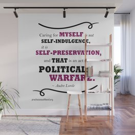 Audre Lorde: Caring for Self Wall Mural