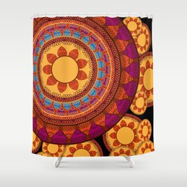 Ethnic Indian Mandala Shower Curtain