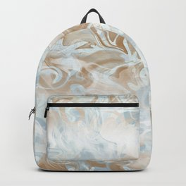 Watercolour Blue Gray Backpack