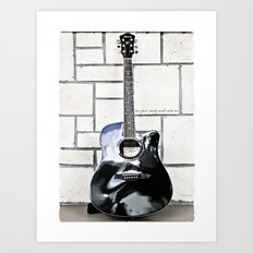 Be Your Song and Rock On in White Art Print