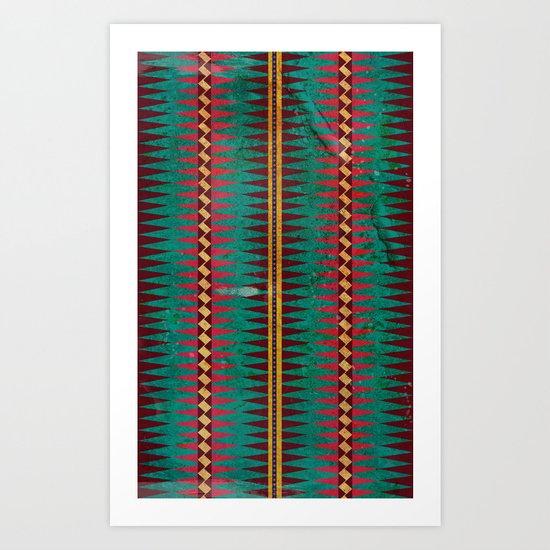 Geo Blanket Art Print