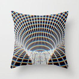 Down The Wormhole Throw Pillow
