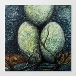Autopoetic eggs Canvas Print