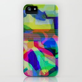 Blue Glitchy Howl iPhone Case