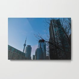 city at dusk Metal Print