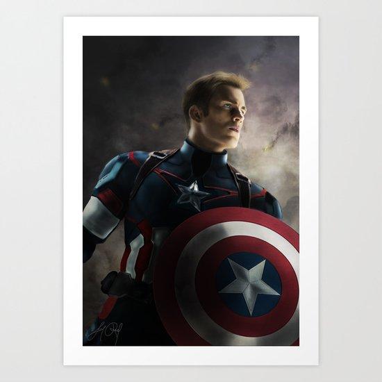 CaptainAmerica by lunarovedaart