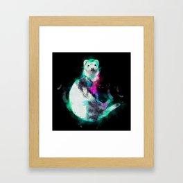 Painted Ferret Framed Art Print