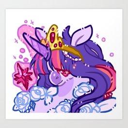 Twlight sparkle Art Print