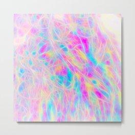 Rainbow Plasma Metal Print