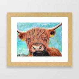 Lorna Coo, the highland cow Framed Art Print
