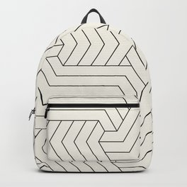 Off-White Interlaced Seamless Pattern Backpack