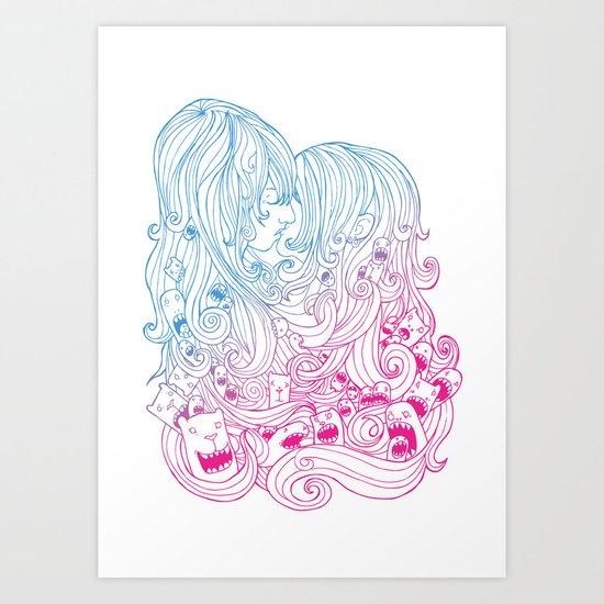 Kiss Kiss Art Print