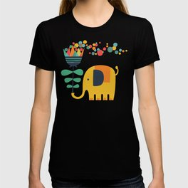 Elephant with giant flower T-shirt