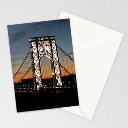 Sunset Over George Washington Bridge Stationery Cards
