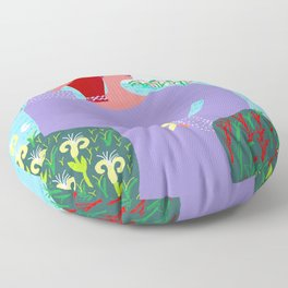 Girl with stamna Floor Pillow