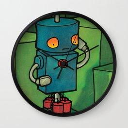 Robot - Self Destrukt Wall Clock