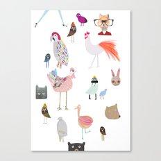 Animal collection Canvas Print