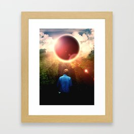Close To The Eclipse Framed Art Print