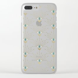 The Peacock Eye Clear iPhone Case
