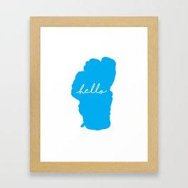 Hello Tahoe Framed Art Print