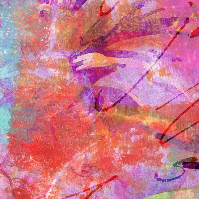 Tropical Pineapple pink abstract illustration art Leggings