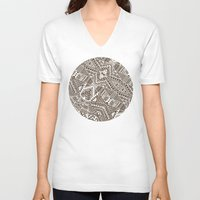 tribal V-neck T-shirts featuring Tribal  by Terry Fan