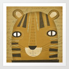 TIGER HEAD Art Print