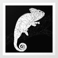 chameleon Art Prints featuring CHAMELEON by ARCHIGRAF