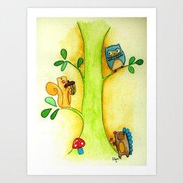 Tree creature Art Print