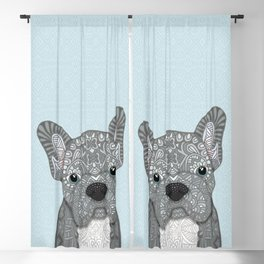 Gray Frenchie 001 Blackout Curtain