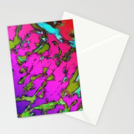 Shattering pink tigers Stationery Cards