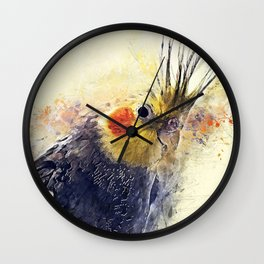 Cockatiel Wall Clock