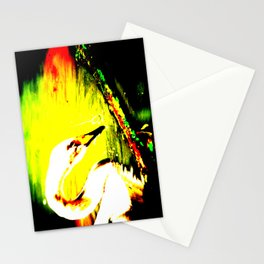 Abstract Swan Stationery Cards