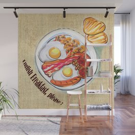 English Breakfast Wall Mural