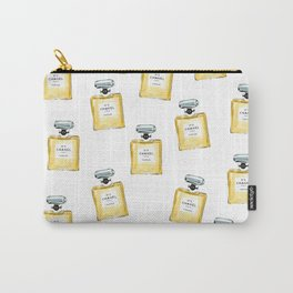 Classic Yellow Parfum Pattern Carry-All Pouch