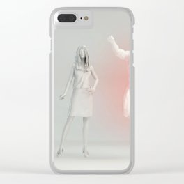 Successful Business Man Outshining Other Competitors Concept Clear iPhone Case